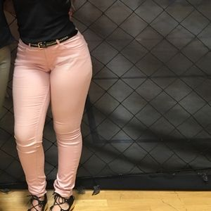 Denim - light pink jeans